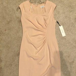 Calvin Klein Sunburst Sheath Dress NWT